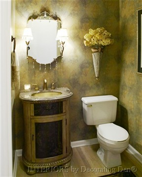 How To Decorate Powder Room easy powder room facelift | devine decorating results for your