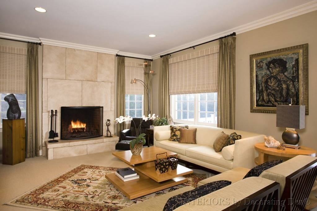Faux Stone Fireplace Ideas. Fireplace after refinishing