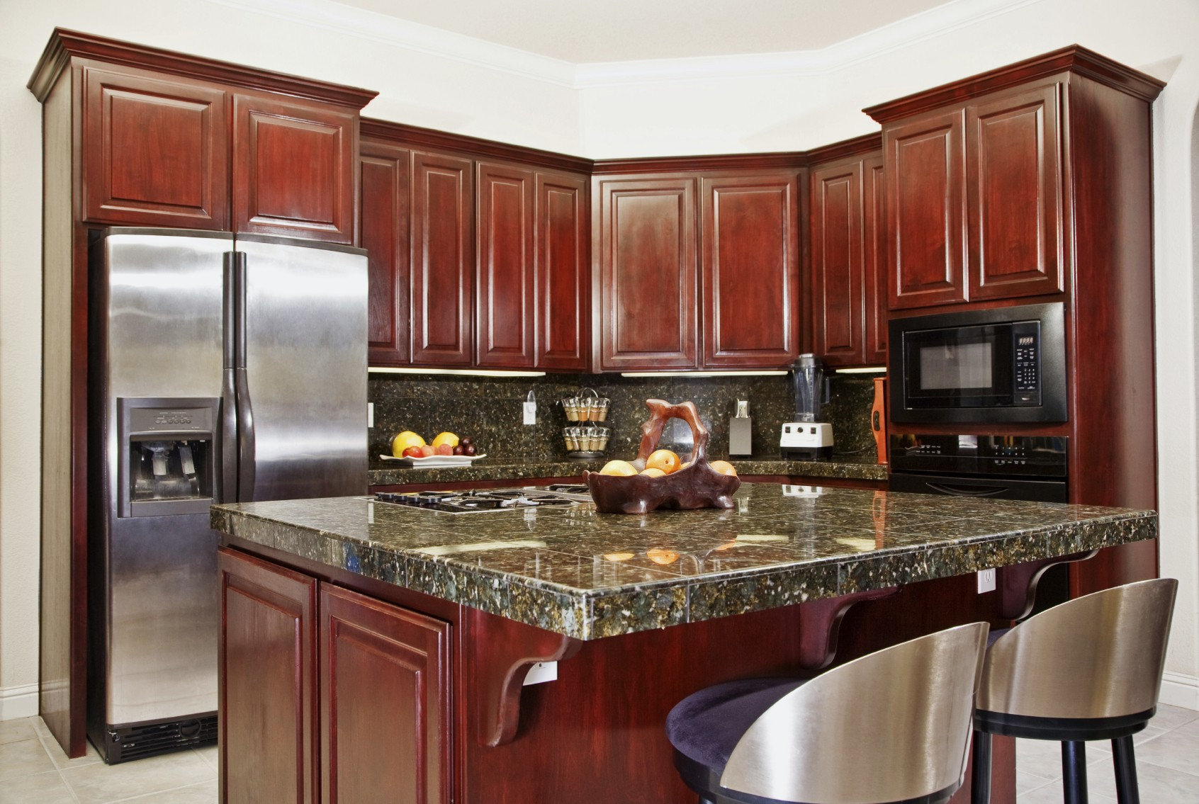 Faux Painting Kitchen Cabinets