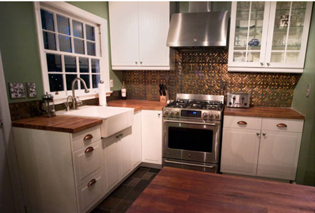 Cape Codfarmhouse Style Kitchen  R&r Homes  Pinterest Classy Tin Backsplash For Kitchen Review