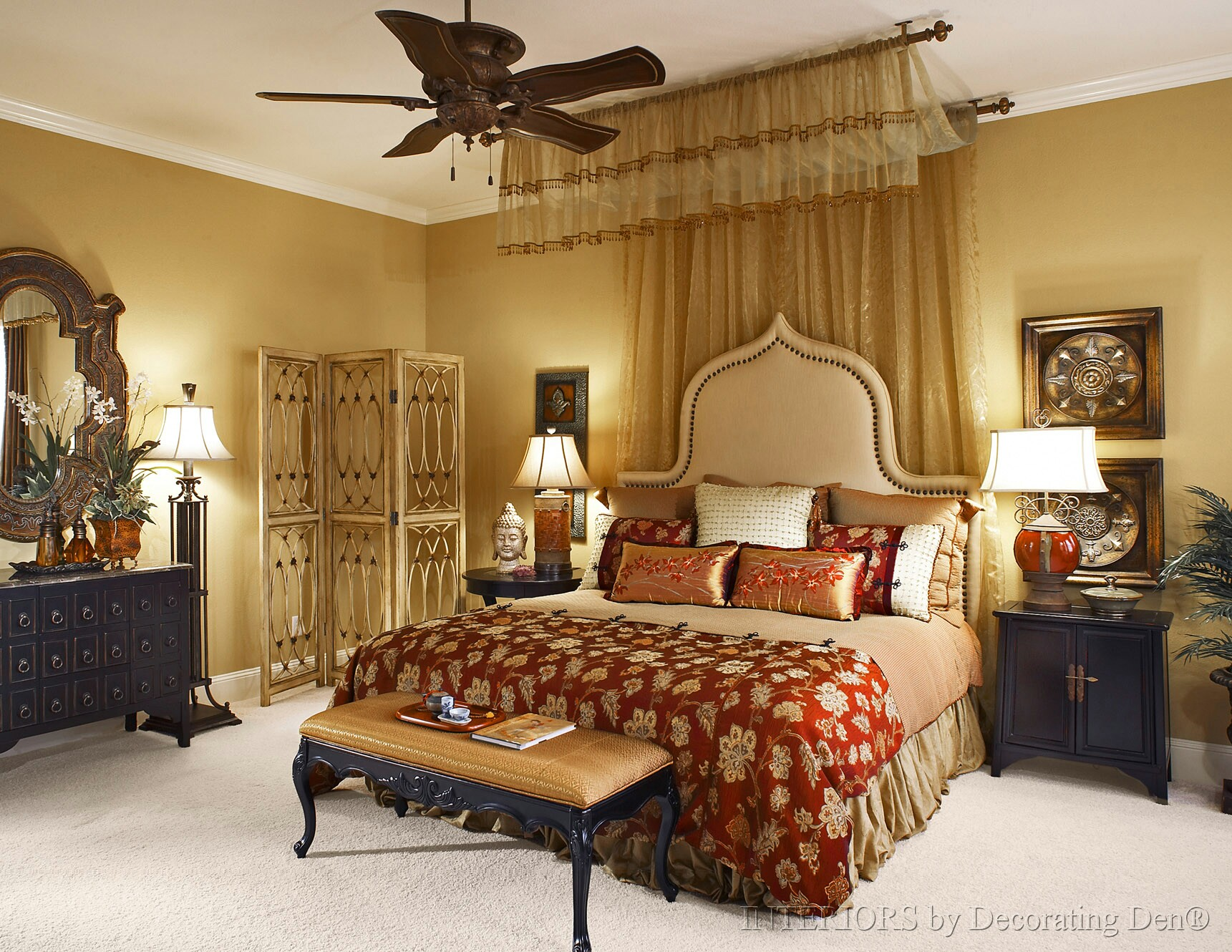 Interior design in the bedroom upholstered headboards for Custom bedroom designs