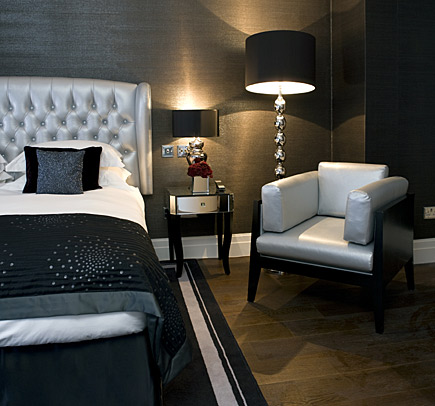 Interior design in the bedroom upholstered headboards for Modern hotel decor