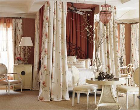 inspiration for adding fabric and window treatments in the