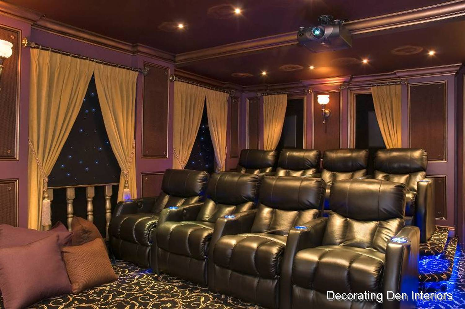 Tips for creating a media room big or small devine for Room decorations