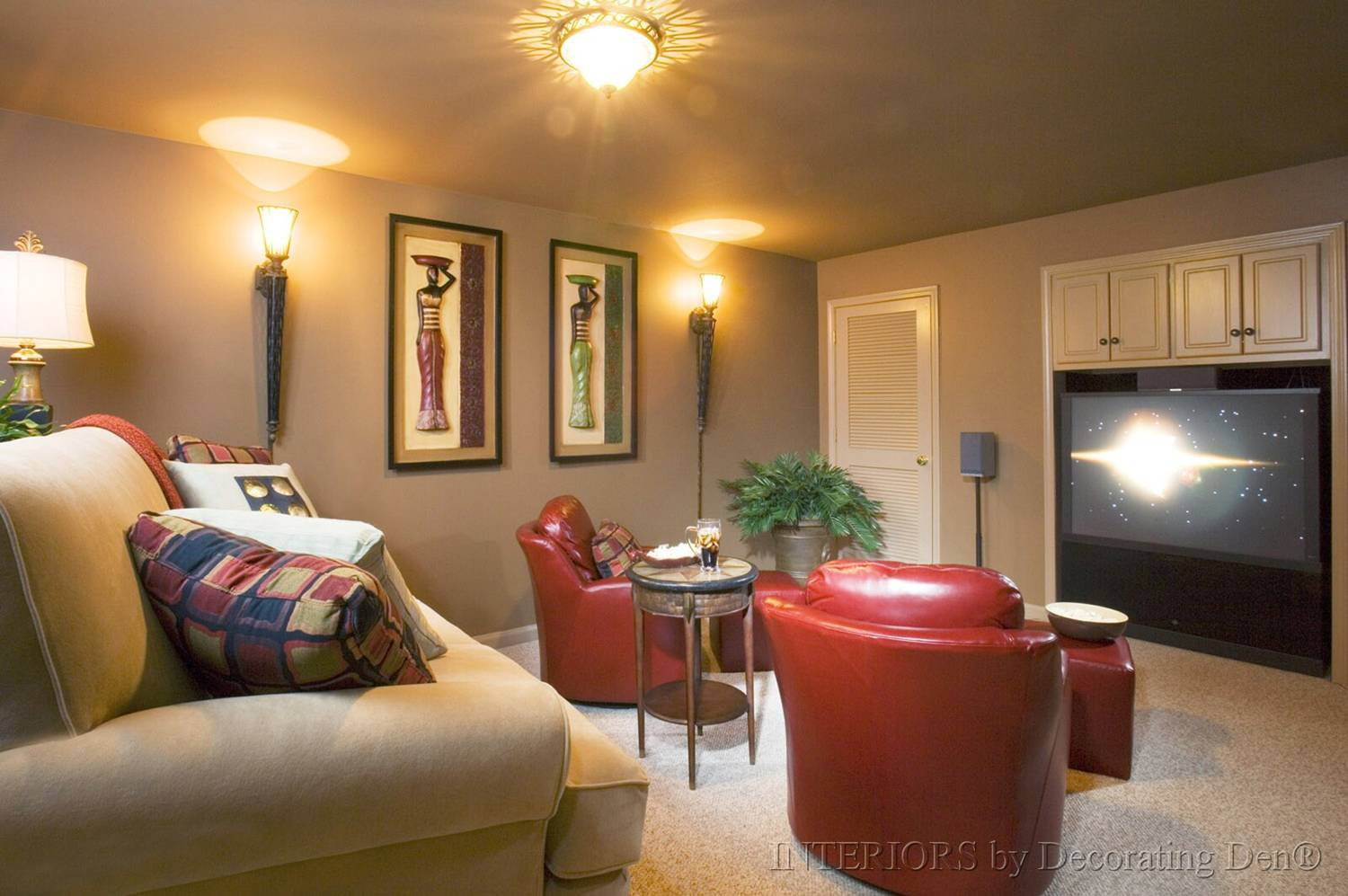 Tips for creating a media room big or small devine for Room layout designer free