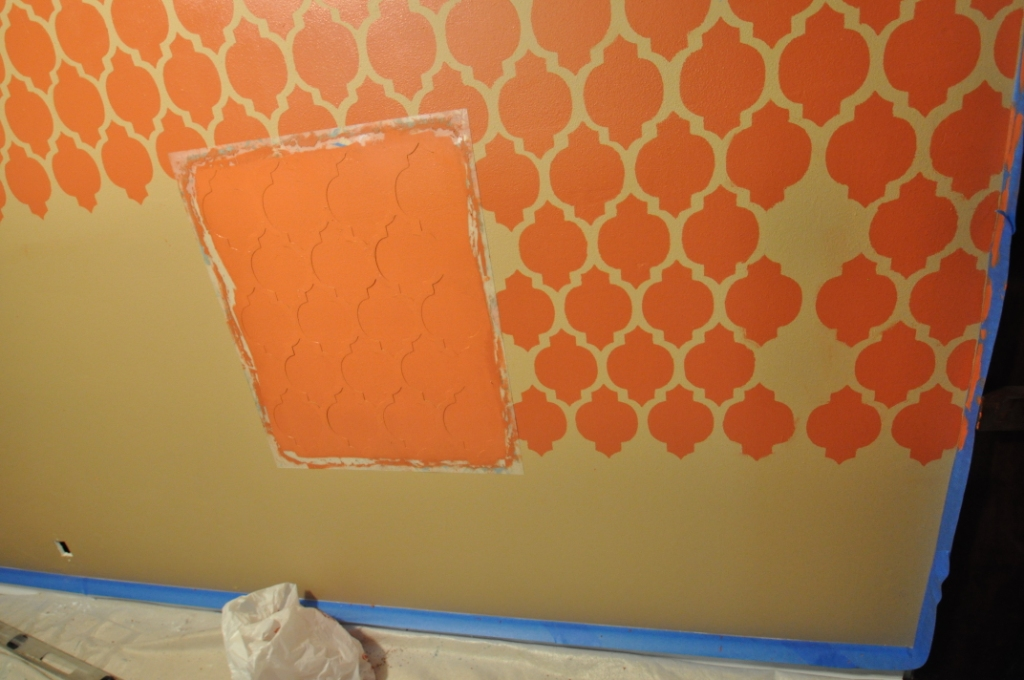 Adventures In Creating Accent Walls With Stencils Devine