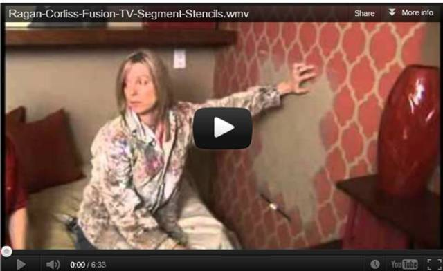 TV segment on DIY Stenciled Walls