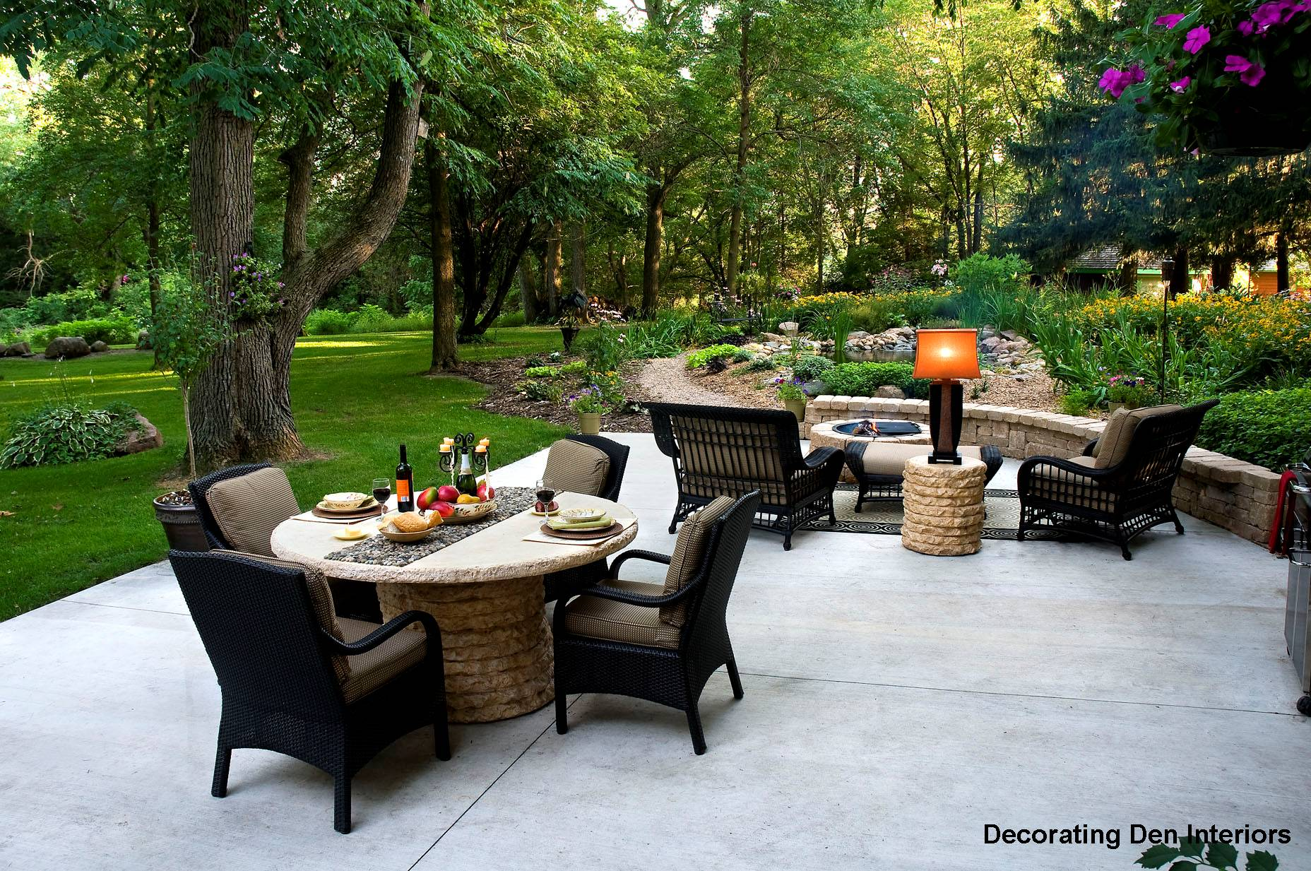 inspiration tips for decorating outdoor rooms devine 19663 | patio furniture portland