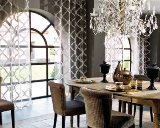 Pattened sheer window treatments