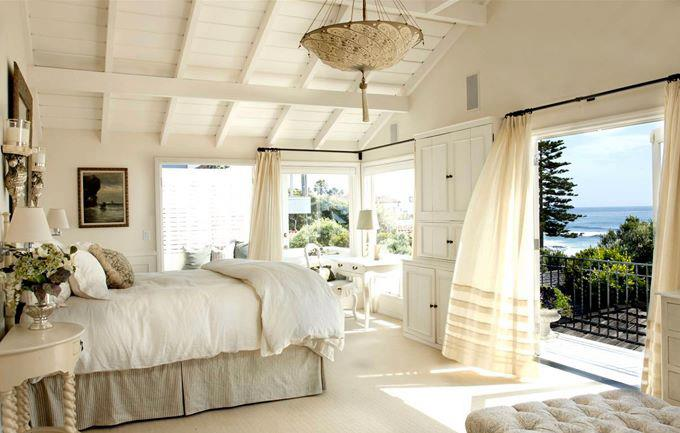 White Sheer Window Treatments In Bedroom