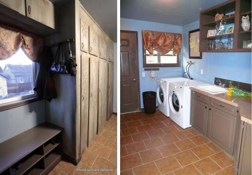 Laundry room after interior decorator makeover