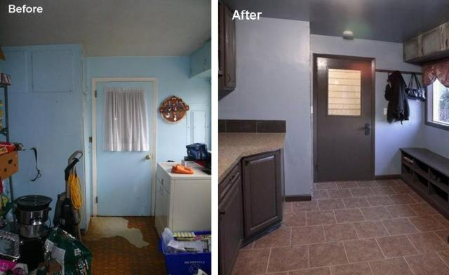 Laundry room before and after photos